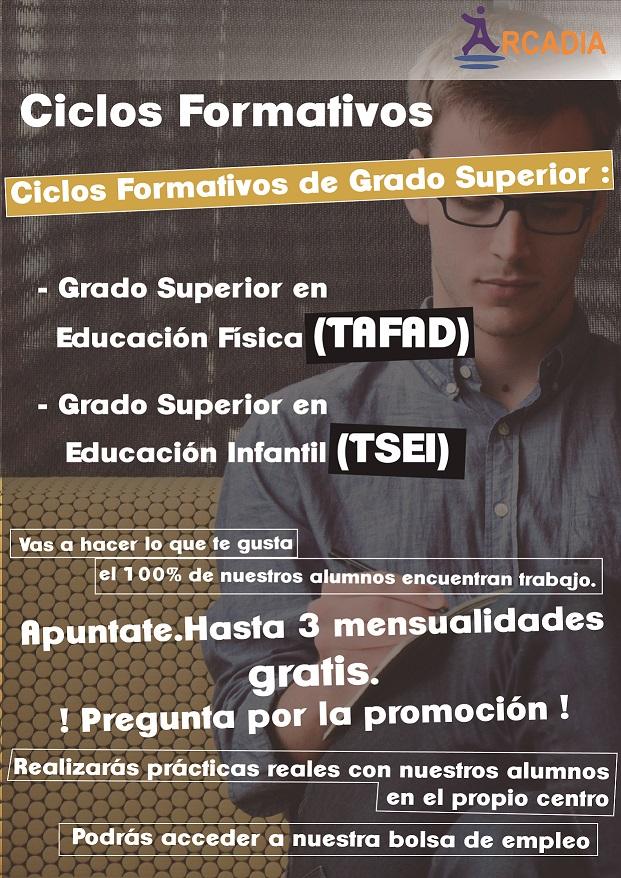Ciclos Formativos FP Ed. Física, Ed. Infatil y Dependencia